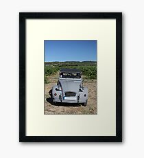 Vintage French car by ProvenceProvence Framed Print