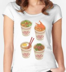 Cup Noodle Ramen Women's Fitted Scoop T-Shirt