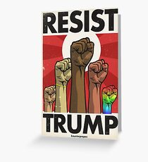 Resist Trump, Fists (Vector Recreation) Greeting Card
