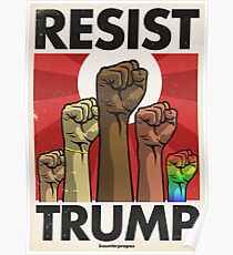 Resist Trump, Fists (Vector Recreation) Poster