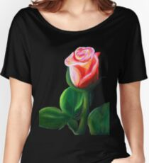Oil Pastel Rose Women's Relaxed Fit T-Shirt