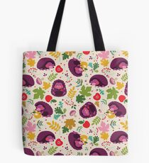 Hedgehog Print Tote Bag
