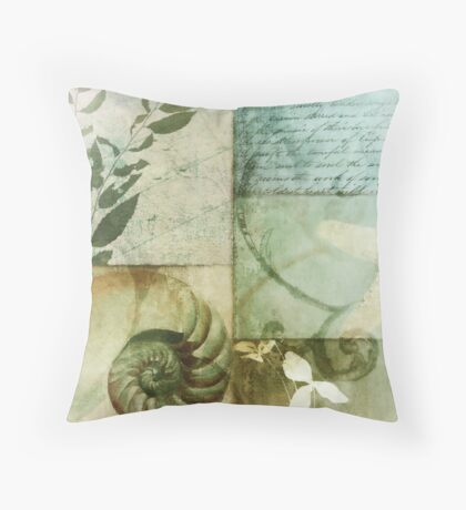 Beach Expressions I Throw Pillow