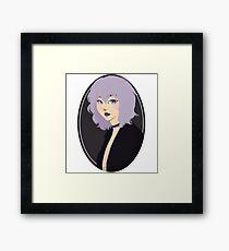 Grungy girl Framed Print