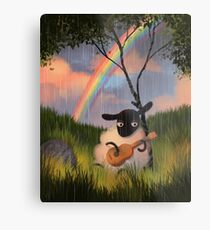 Sheep Playing Guitar Metal Print
