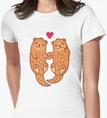 Otterly adorable Women's Fitted T-Shirt