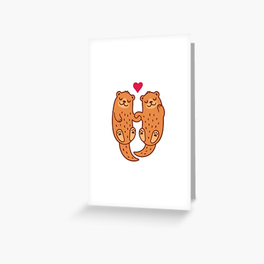 Otterly bezaubernd Grußkarte