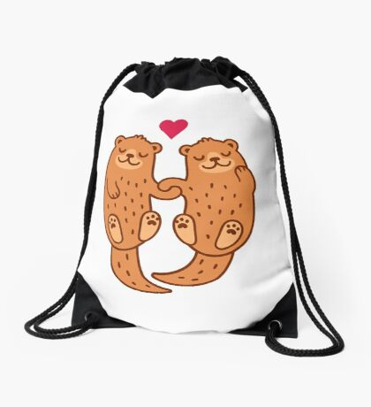 Otterly adorable Drawstring Bag