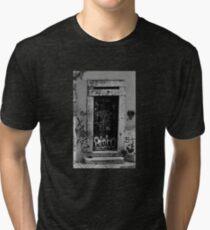 Lisbon door film photography Tri-blend T-Shirt