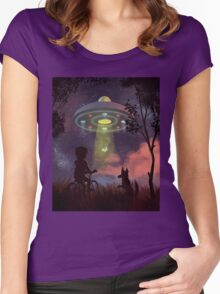 UFO Sighting Women's Fitted Scoop T-Shirt