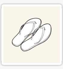 Black & white flip flops Sticker