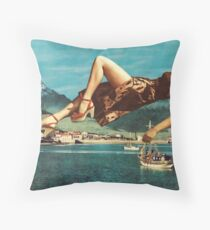 The Siren Waits Thee Singing Song for Song Throw Pillow