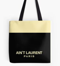 Yves Saint Laurent parody Paris Tote Bag