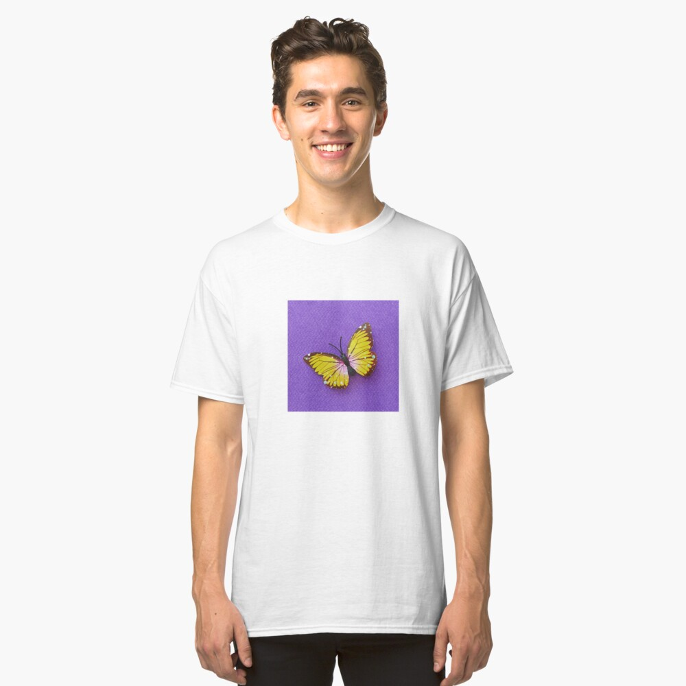 Yellow Butterfly Classic T-Shirt Front