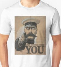"""Your Country Needs You"" British WWI Poster Unisex T-Shirt"