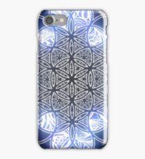 Sacred Geometry Flower of Life Ice Glow iPhone Case/Skin