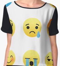I Love The Clarinet Emojis Emoticon Funny Band Geek Nerd Graphic Tee Shirt Chiffon Top