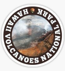 Hawaii Volcanoes National Park circle Sticker