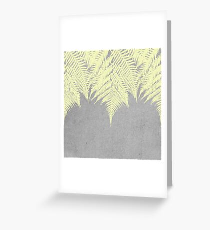 Concrete Fern Yellow Greeting Card