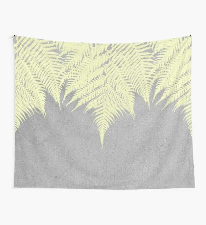 Concrete Fern Yellow Wall Tapestry