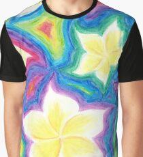 Cold Rainbow Frangipanis Graphic T-Shirt