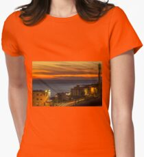 Christmas Day Sunset Womens Fitted T-Shirt