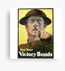 """War Bonds"" Military WWI Poster  Canvas Print"