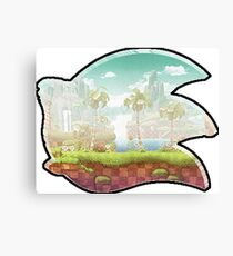 Sonic Madeon | Custom Sonic The Hedgehog Logo (Without Arrows) Canvas Print