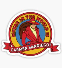 Where in the World is Carmen Sandiego? Sticker