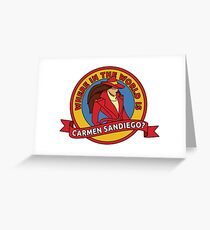 Where in the World is Carmen Sandiego? Greeting Card