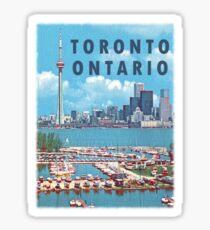 Toronto Ontario Canada Vintage Travel Decal Sticker