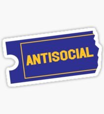 Antisocial Video Sticker