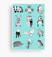 Woodland Animals Canvas Print