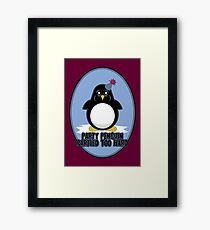 Party Penguin Partied Too Hard Framed Print