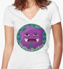 Smokémon Women's Fitted V-Neck T-Shirt