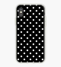 Polkadots Black and White iPhone Case