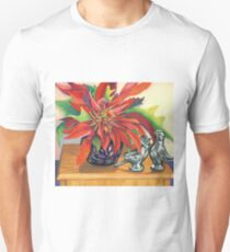 Lovebirds with Poinsettia Unisex T-Shirt