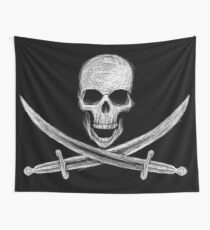 Not So Jolly Roger Wall Tapestry