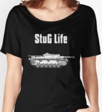 StuG Life - Military History Visualized (Vertical Version) Women's Relaxed Fit T-Shirt