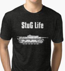 StuG Life - Military History Visualized (Vertical Version) Tri-blend T-Shirt