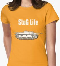 StuG Life - Military History Visualized (Vertical Version) Womens Fitted T-Shirt