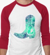 Cowboy Boot Men's Baseball ¾ T-Shirt
