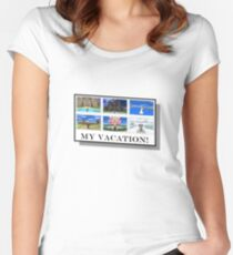 My Pokemon Vacation Women's Fitted Scoop T-Shirt