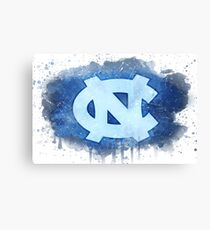 University of North Carolina Watercolor Logo Canvas Print