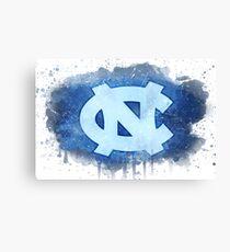 University of North Carolina Watercolor Logo Canvas Print