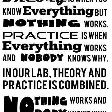 Theory and Practice T shirt by rarefindtshirt