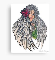 Neotraditional guardian angel Metal Print
