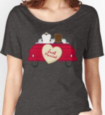 Just Married Newlyweds Driving Women's Relaxed Fit T-Shirt