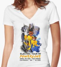 Powerline 2 - Goofy Movie Women's Fitted V-Neck T-Shirt