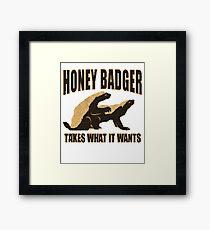 Honey Badger - Takes Framed Print